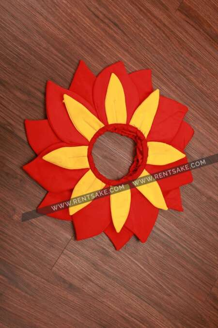 Red-yellow flower fancy dress costume