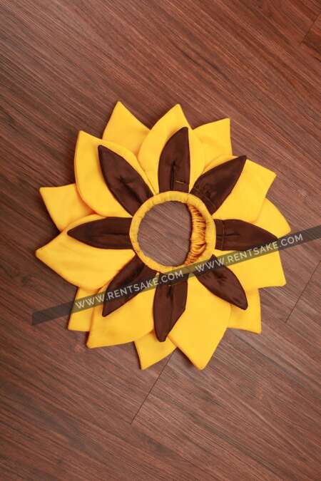 Yellow-brown flower fancy dress costume