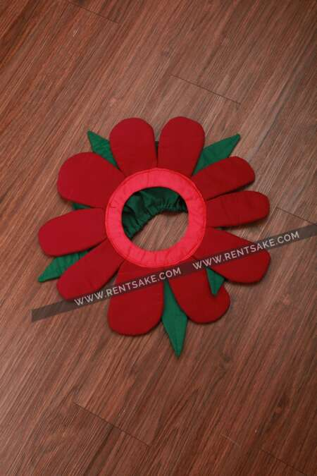 Red flower fancy dress costume