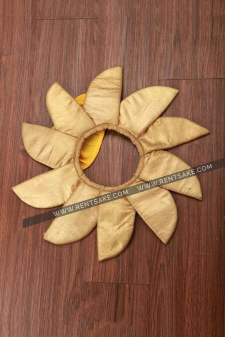 Golden flower fancy dress costume