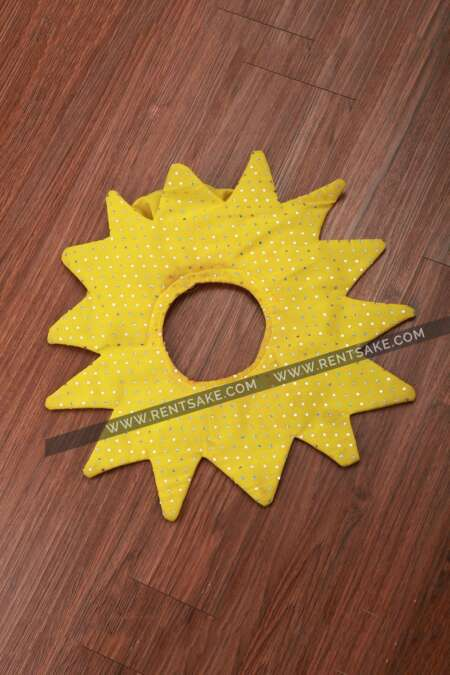 Bright yellow flower fancy dress costume