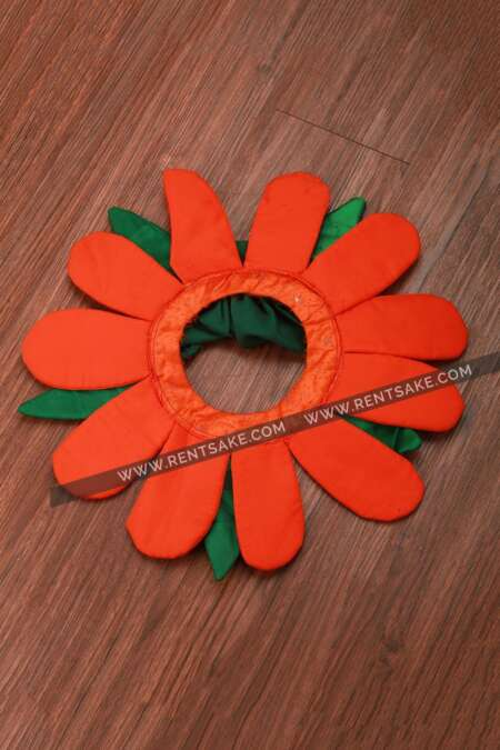 Orange Flower fancy dress costume