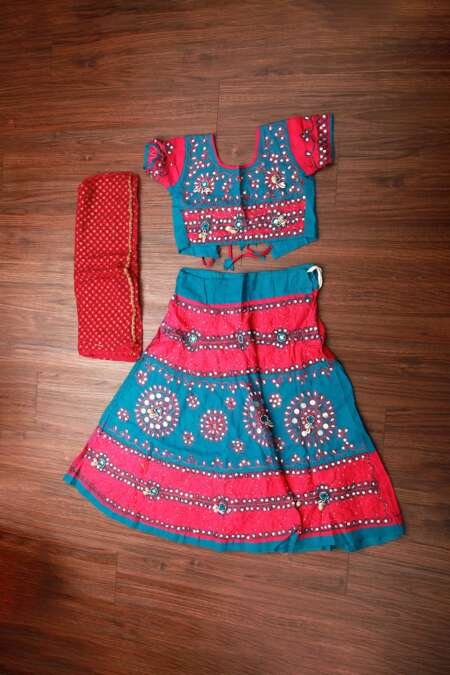 BLUE CHANIYA CHOLI