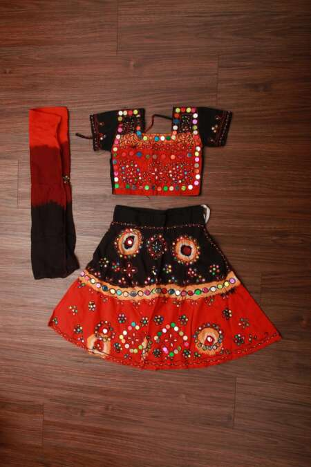 ORANGE BLACK CHANIYA CHOLI