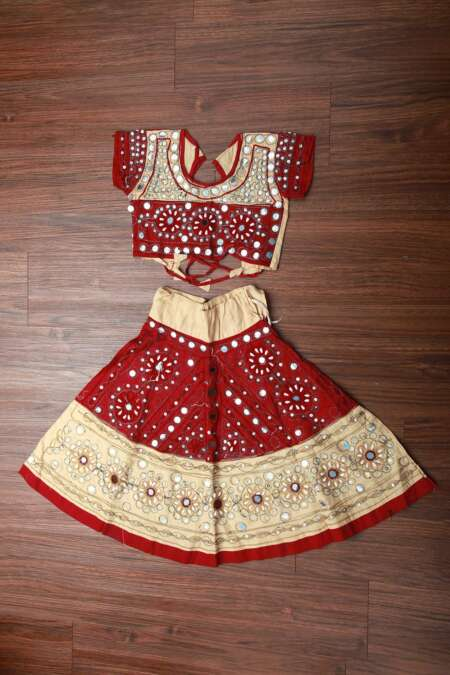 OFF WHITE RED CHANIYA CHOLI