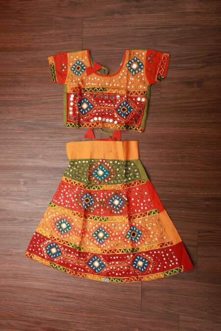 MULTICOLORED CHANIYA CHOLI