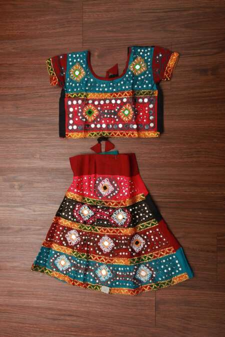 MULTICOLORED CHANIYA CHOLI FULL