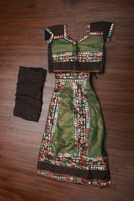 GREEN BLACK CHANIYA CHOLI