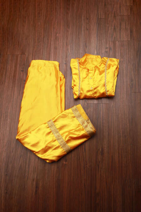 YELLOW BHANGRA DRESS