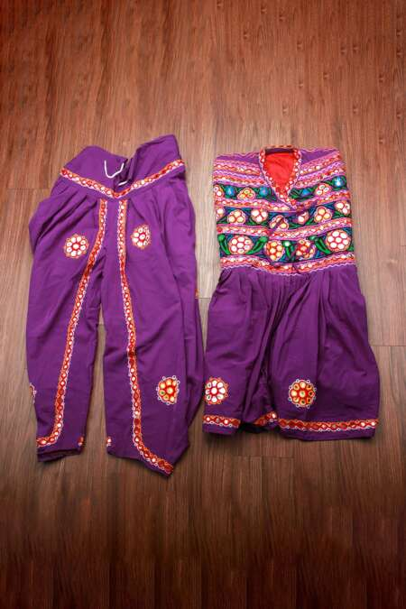 Purple kediyu with kafni pyjama