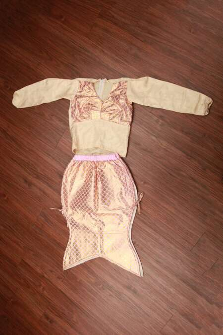 Baby pink mermaid fancy dress costume