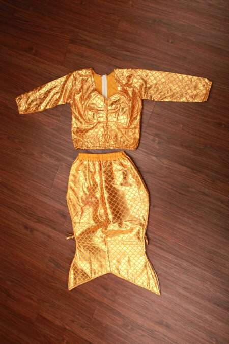 Golden mermaid fancy dress costume