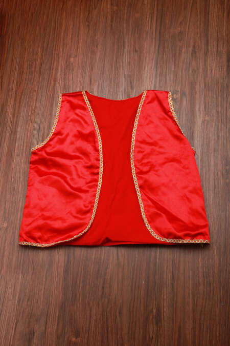 Red satin koti by rentsake