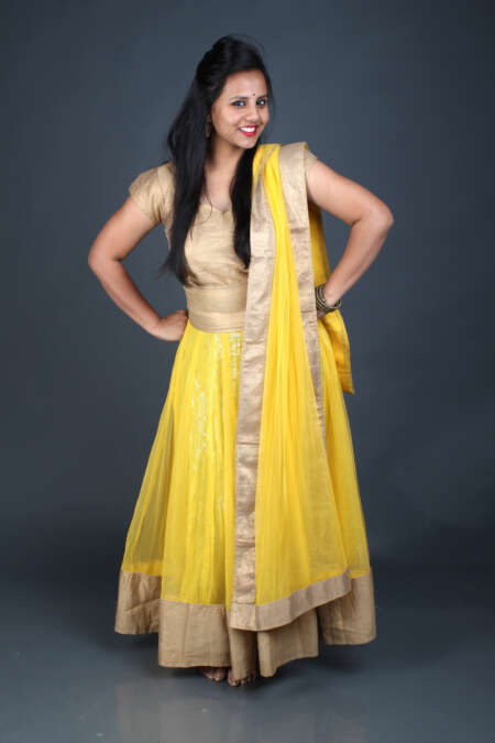 GOLDEN YELLOW GHAGRA CHOLI